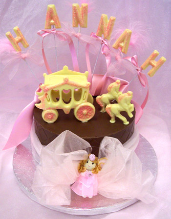 Chocolate tier with horse and carriage theme