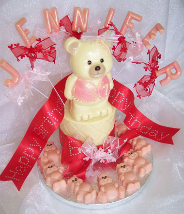 Chocolate tier with teddy theme