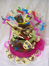 chocolate theatrical scene on a chocolate tier