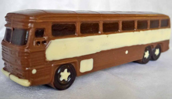 a picture of a milk chocolate bus
