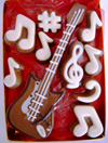 a picture of a chocolate guitar