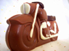 a picture of a chocolate motorcycle