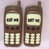 a picture of two chocolate mobile phones