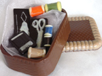 a picture of a chocolate sewing kit