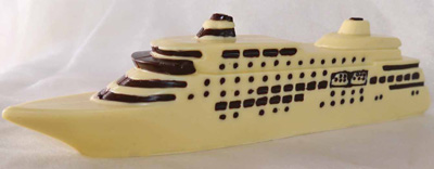 a picture of a white chocolate cruise ship
