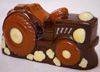 a picture of a chocolate tractor