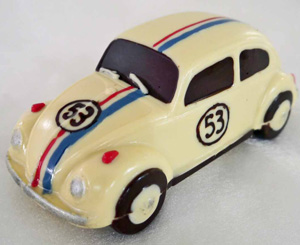 a picture of a white chocolate VW Herbie